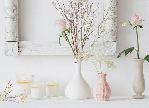 Vaser i forskellige størrelser og former