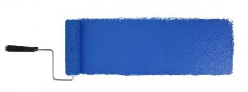 Blå maling til væggen