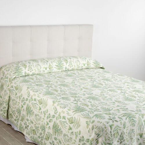 Engelsk blomstret sengetæppe