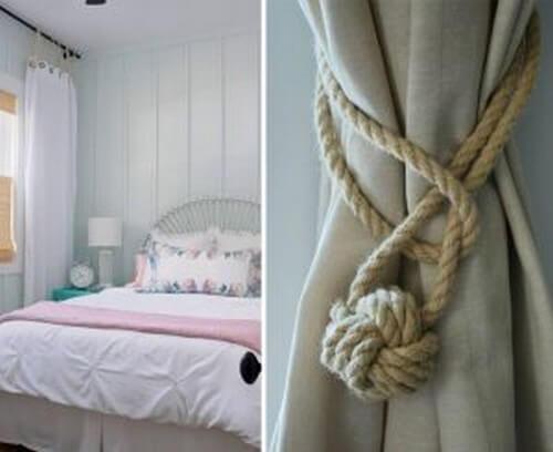 Reb viklet om gardiner