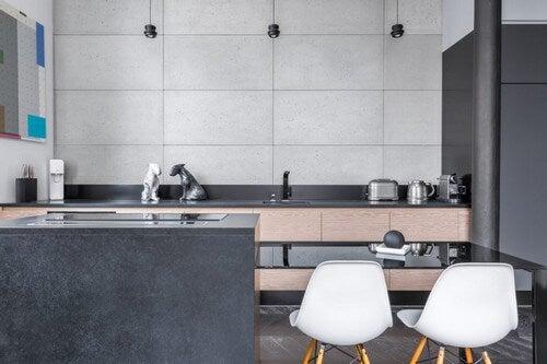 Køkken i grå farver