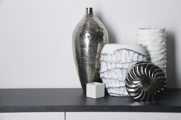 Keramisk vase der er malet