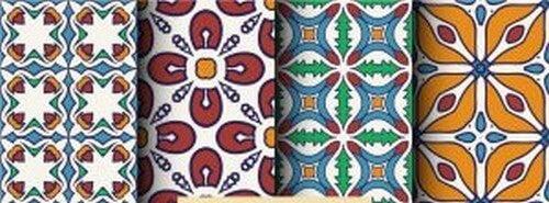 Fliser med mosaikdesign
