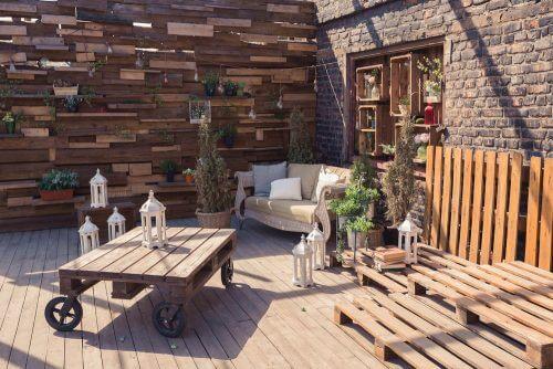 Indret din terrasse med paller