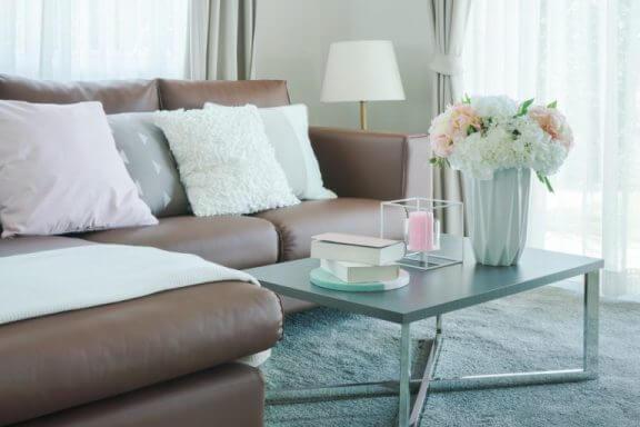 Sofa med et strejf af romantik.