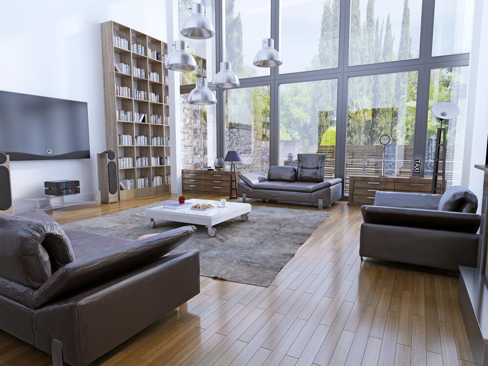 Stue med højt til loftet