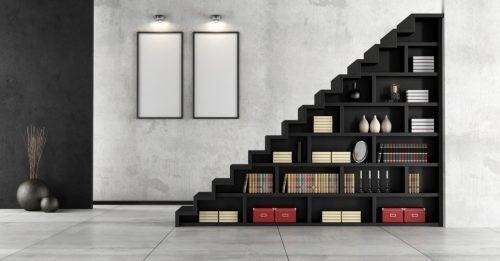 Du kan også placere dine bøger under trappen