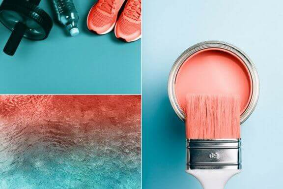 Produkter med årets farve Living Coral.