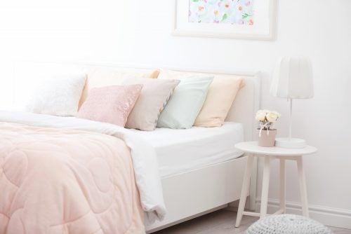Moderne sengetøj i pastelfarver