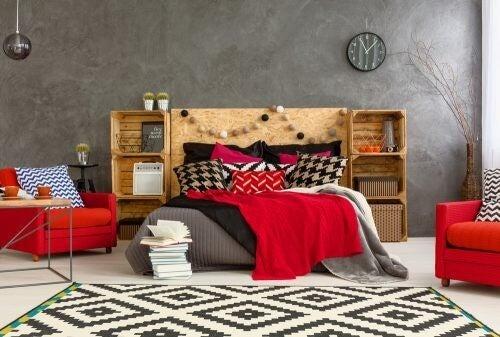 Soveværelse i efterårsfarver