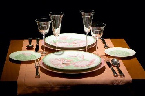 Et eksempel på korrekt borddækning