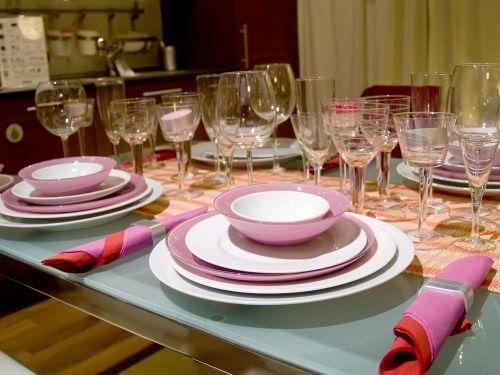 Glasopstillingen er essentiel, når du dækker bord