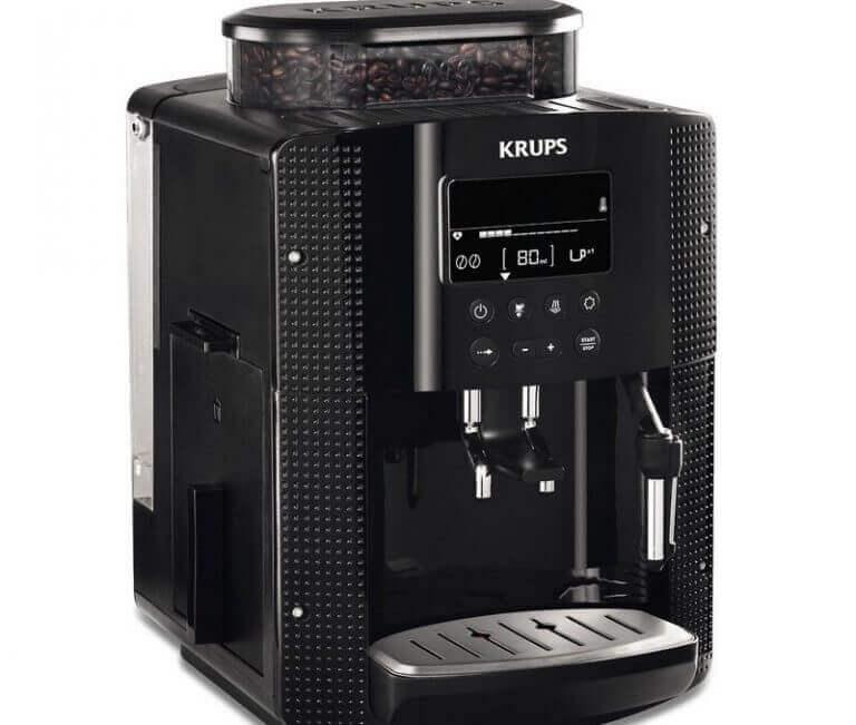 Krups kaffemaskine med kværn.