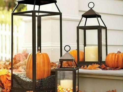 Lanterner med græskar