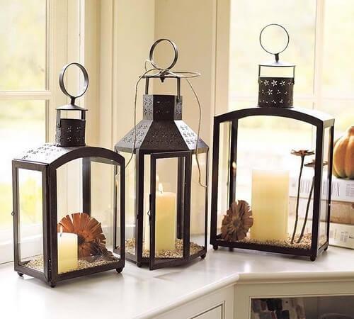 Display med lanterner