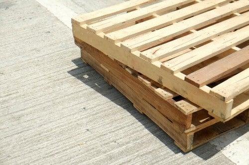 Træpaller er et fantastisk genbrugsmateriale