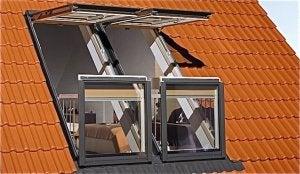 Altan vinduer i loftsværelset