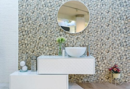 Med tapet illusioner kan du simulere materialer såsom mursten, træ, beton, marmor osv.