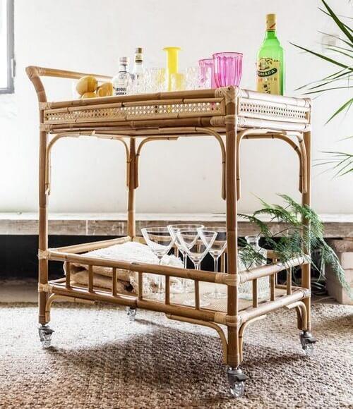 Bambusmøbler kan skabe en naturlig indretning