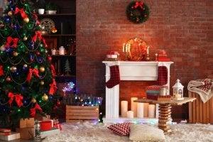 En falsk pejs er den ideelle løsning til jul