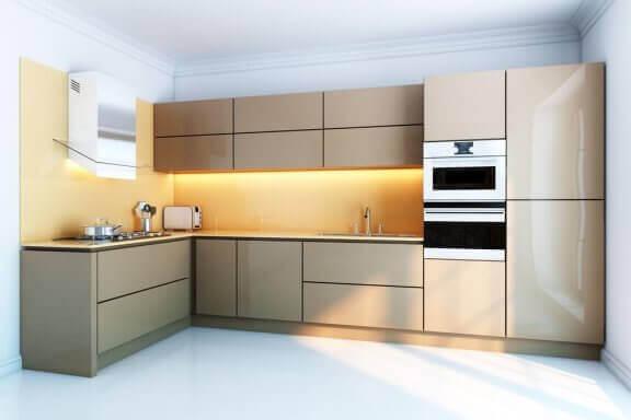 Grebsfri køkkenskabe i moderne køkken.