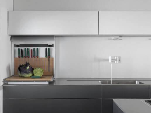 Minimalistisk køkken.