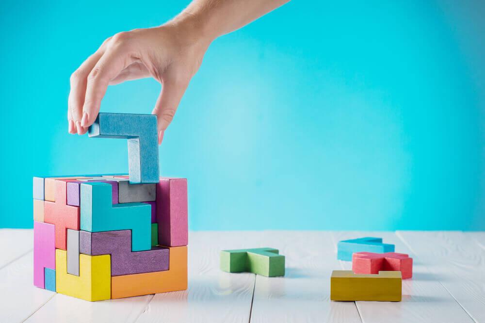 Kreativt spil med byggeklodser
