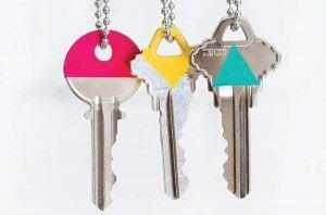 Organisering af dine nøgler ved at farve dem