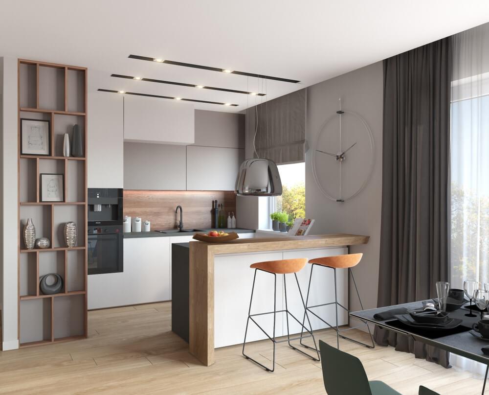 Minimalistisk køkken