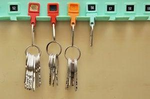 Tre bundter af nøgler