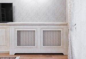 Denne type radiatorskjuler giver dig en ekstra hylde i dit hjem, til opbevaring af ting eller dekorationer