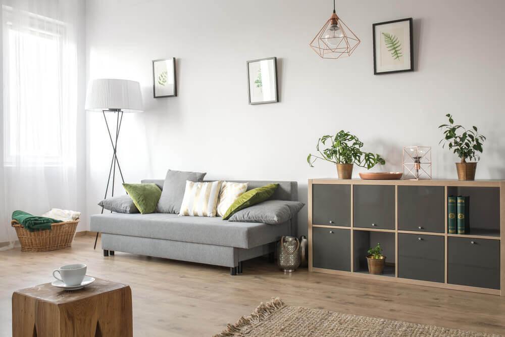 Stue illustrerer indretning for singler