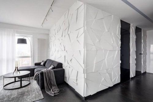 Med tekstureret tapet kan du skabe optiske illusioner i dine rum