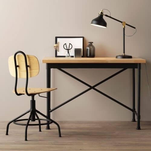 Et naturligt skrivebord fra IKEA