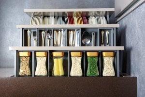 Skuffearrangører ti lat opbevare mad og bestik