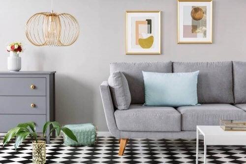 Brug geometriske mønstre i dit hjem
