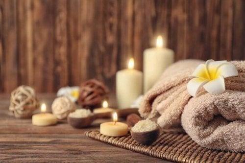 afslappende atmosfære i en spa