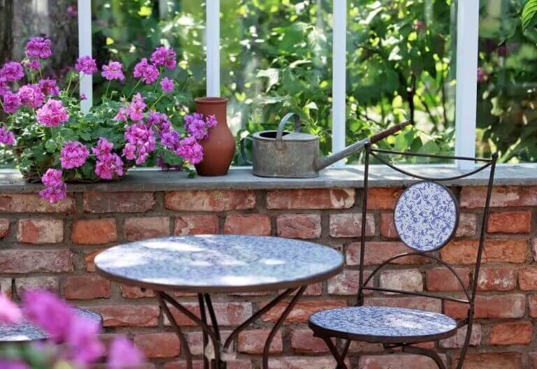 anlægsidéer til romantisk terrasse