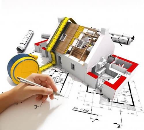 Arkitekttegning og -figur