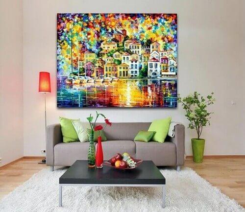 Skab et kunstværk i stuen ved hjælp af billeder