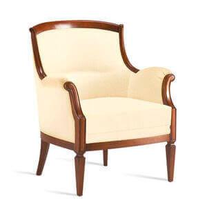 en af de klassiske stole med brune nuancer
