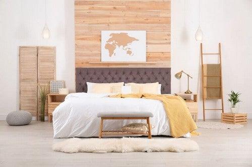 I Feng Shui skal du have et natbord i hver side af sengen