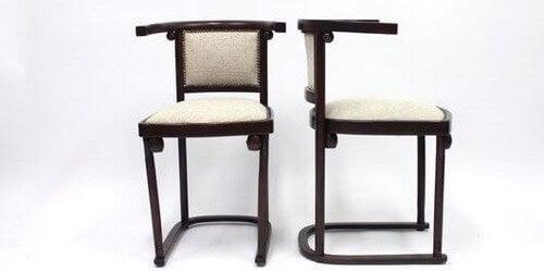 Josef Hoffmann skabte disse Fledermaus-stole