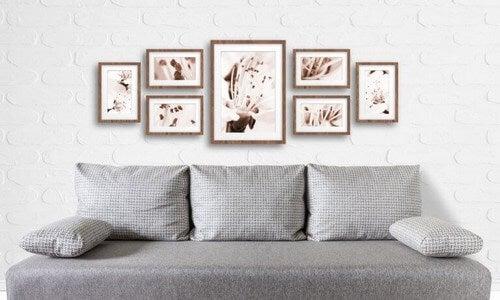 Forenet kunst på væggene