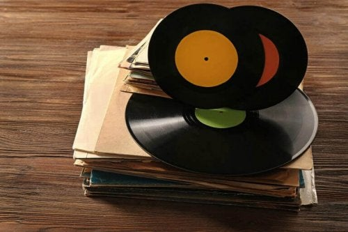 gamle grammofonplader