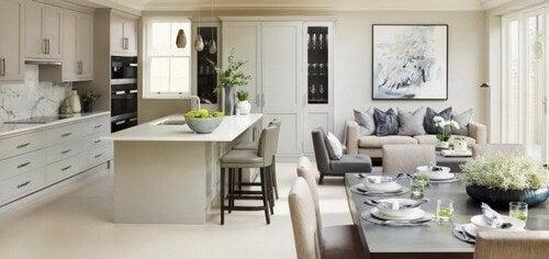Paterson bruger ofte grå farver i sin indretning