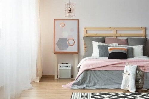 Hvide farver i soveværelset