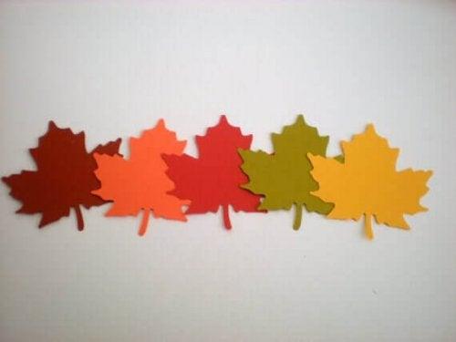 blade i alle farver