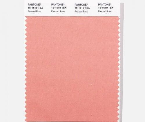 presset rose pantonefarver
