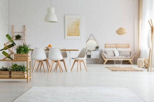 simple møbler i milleniumgenerationens indretningsstil